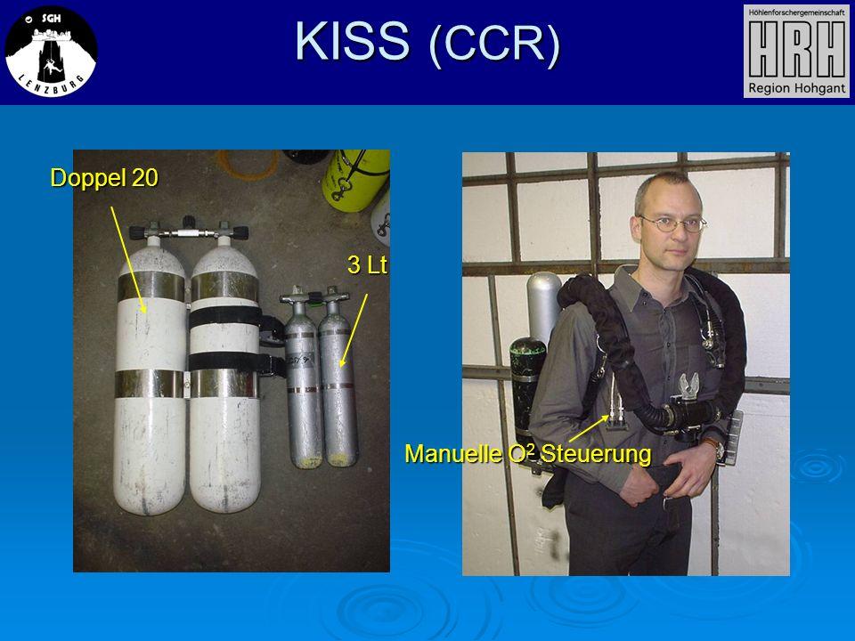 KISS (CCR) Doppel 20 3 Lt Manuelle O2 Steuerung