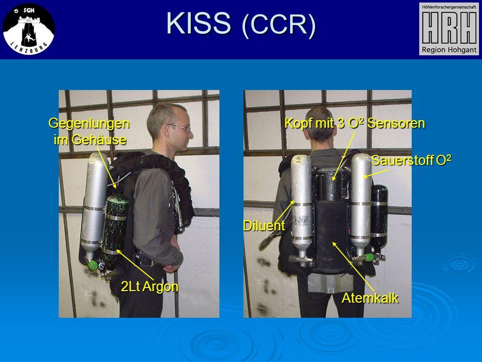 KISS (CCR) Kopf mit 3 O2 Sensoren Gegenlungen im Gehäuse Sauerstoff O2