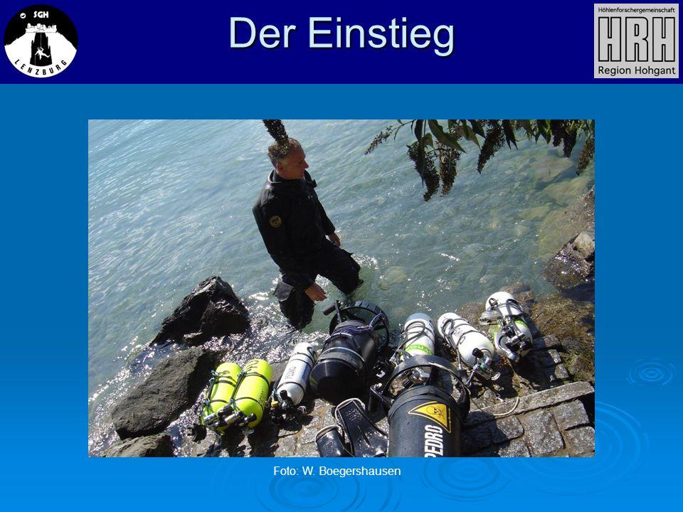 Der Einstieg Foto: W. Boegershausen