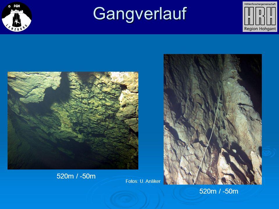 Gangverlauf 520m / -50m Fotos: U. Anliker 520m / -50m