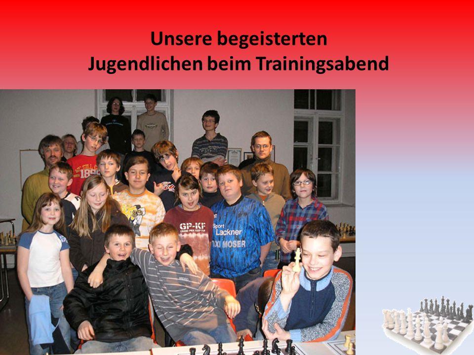 Unsere begeisterten Jugendlichen beim Trainingsabend