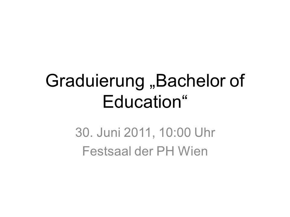"Graduierung ""Bachelor of Education"