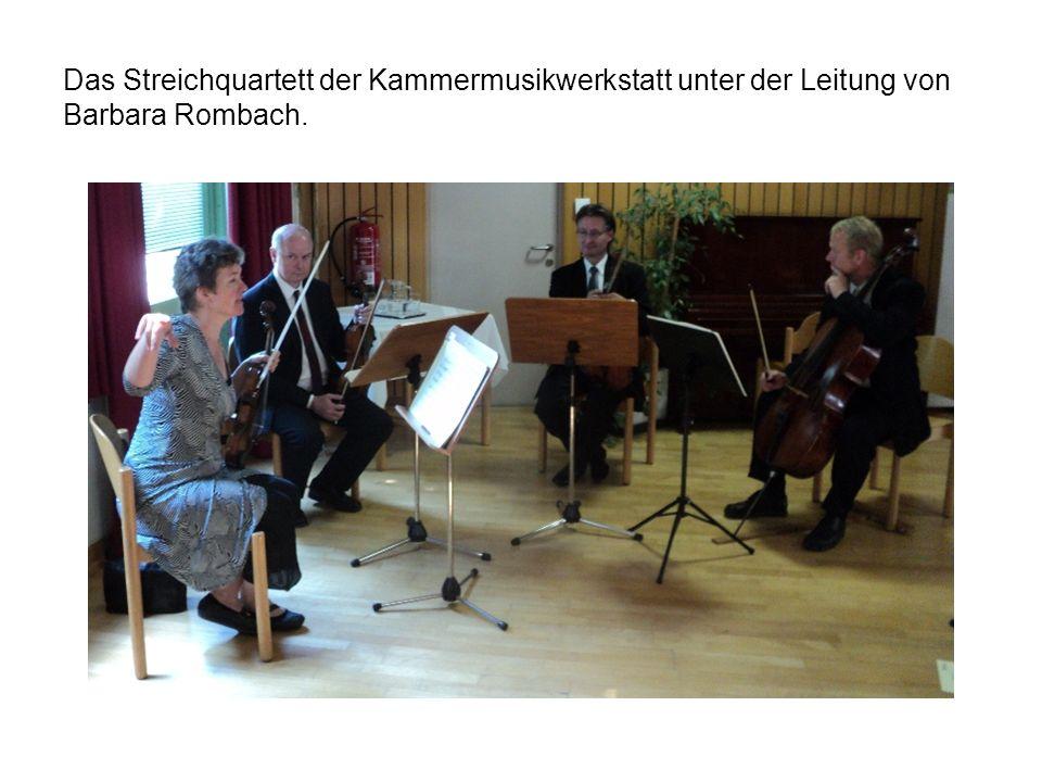 Das Streichquartett der Kammermusikwerkstatt unter der Leitung von Barbara Rombach.