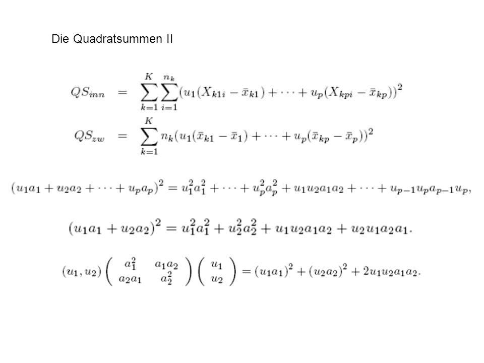 Die Quadratsummen II