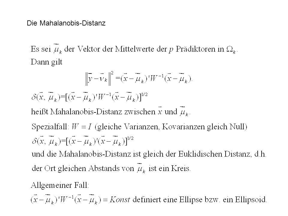 Die Mahalanobis-Distanz