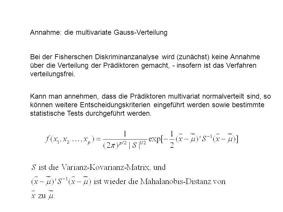 Annahme: die multivariate Gauss-Verteilung