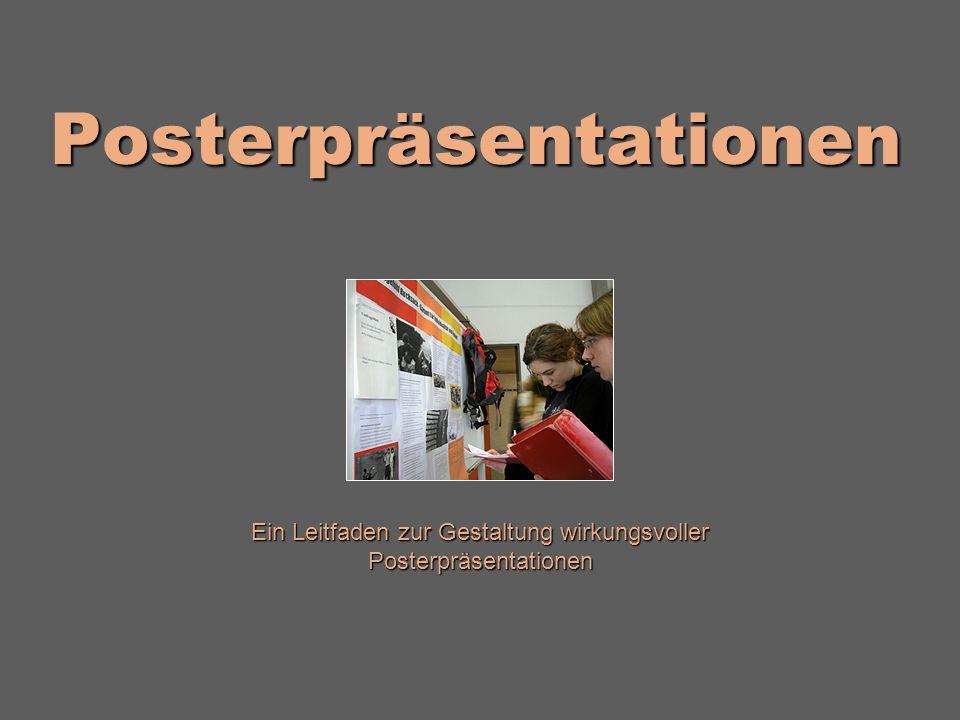 Posterpräsentationen