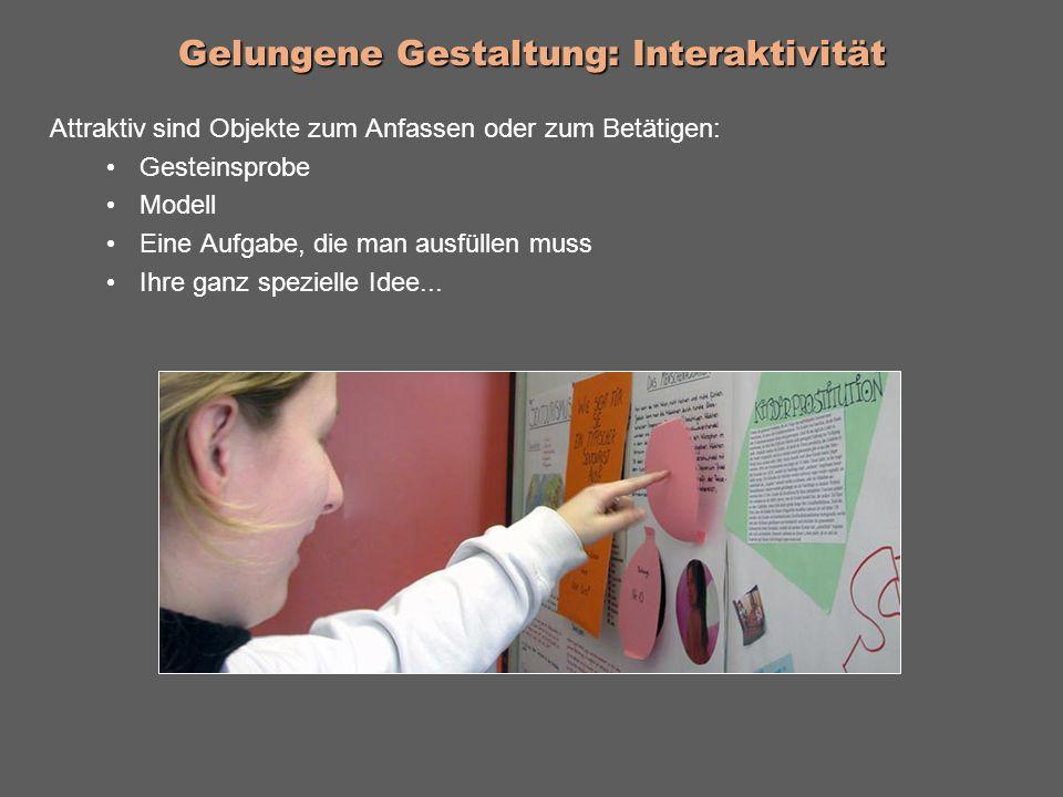 Gelungene Gestaltung: Interaktivität