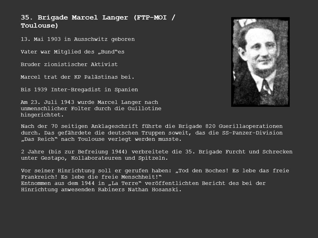 35. Brigade Marcel Langer (FTP-MOI / Toulouse)