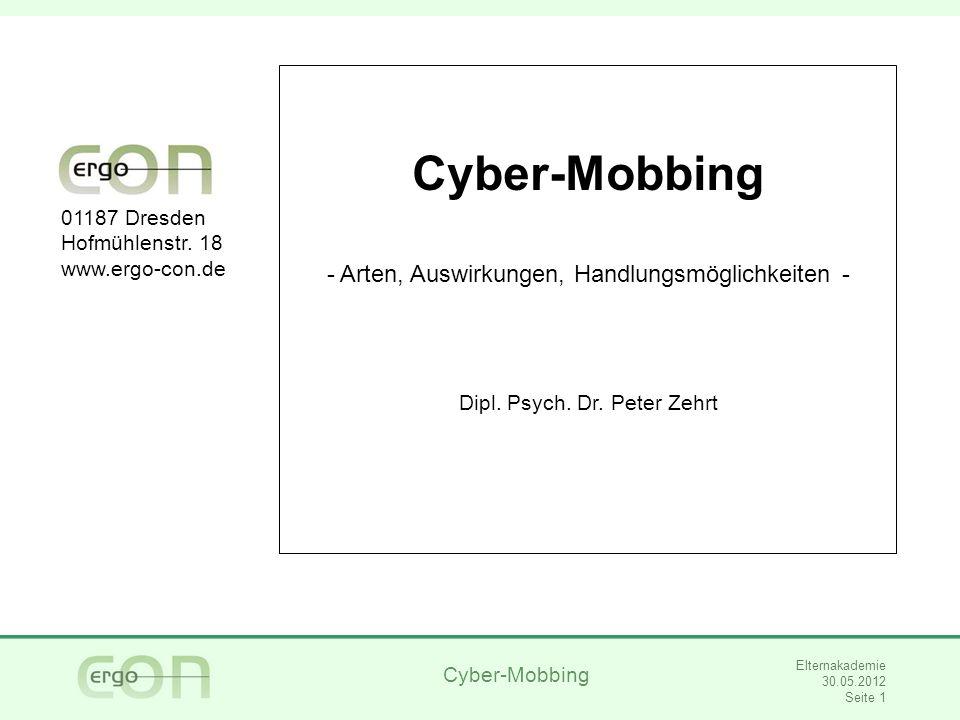 Cyber-Mobbing Arten, Auswirkungen, Handlungsmöglichkeiten -