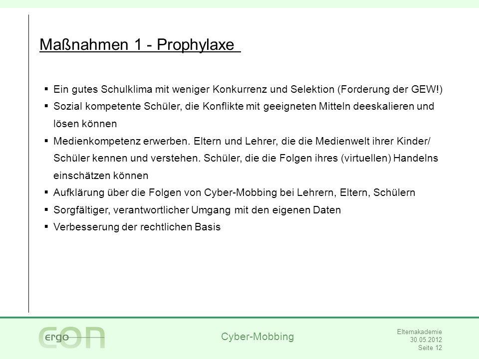Maßnahmen 1 - Prophylaxe