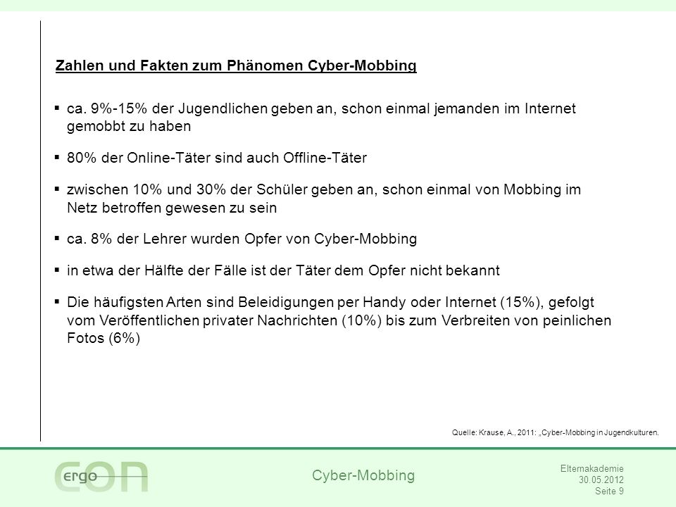 Zahlen und Fakten zum Phänomen Cyber-Mobbing