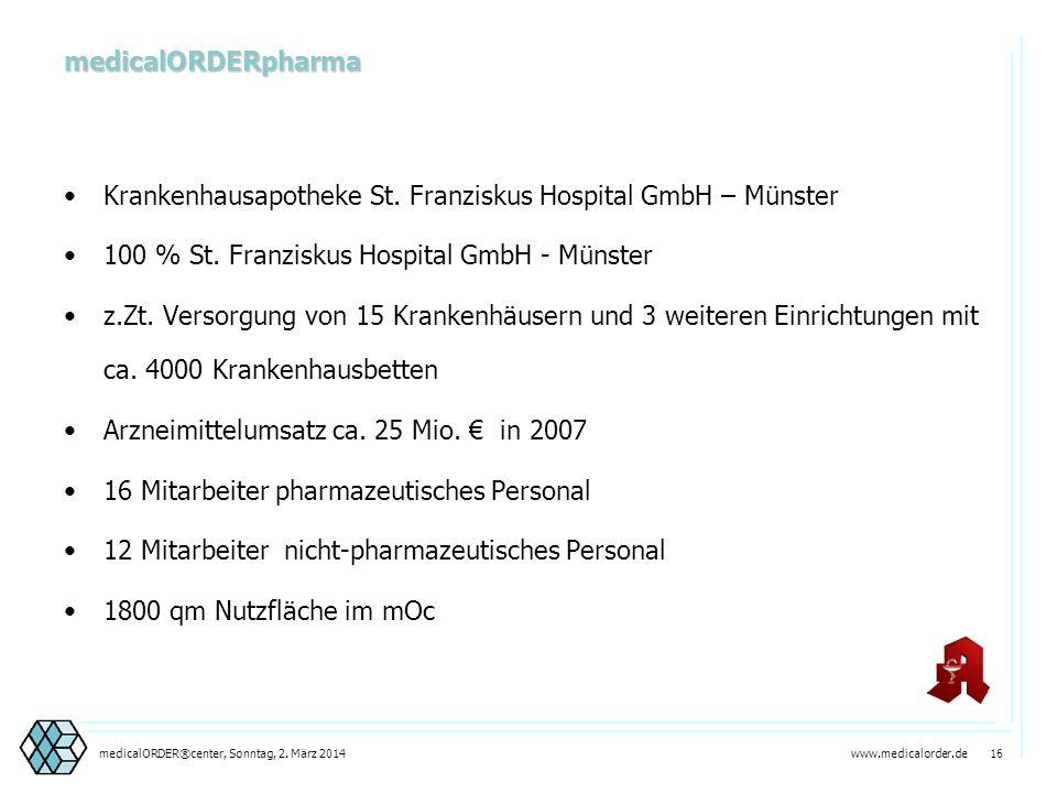 Krankenhausapotheke St. Franziskus Hospital GmbH – Münster