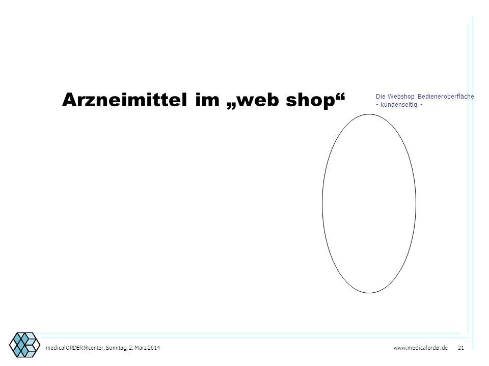 """Arzneimittel im """"web shop"""