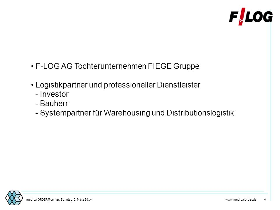 F-LOG AG Tochterunternehmen FIEGE Gruppe