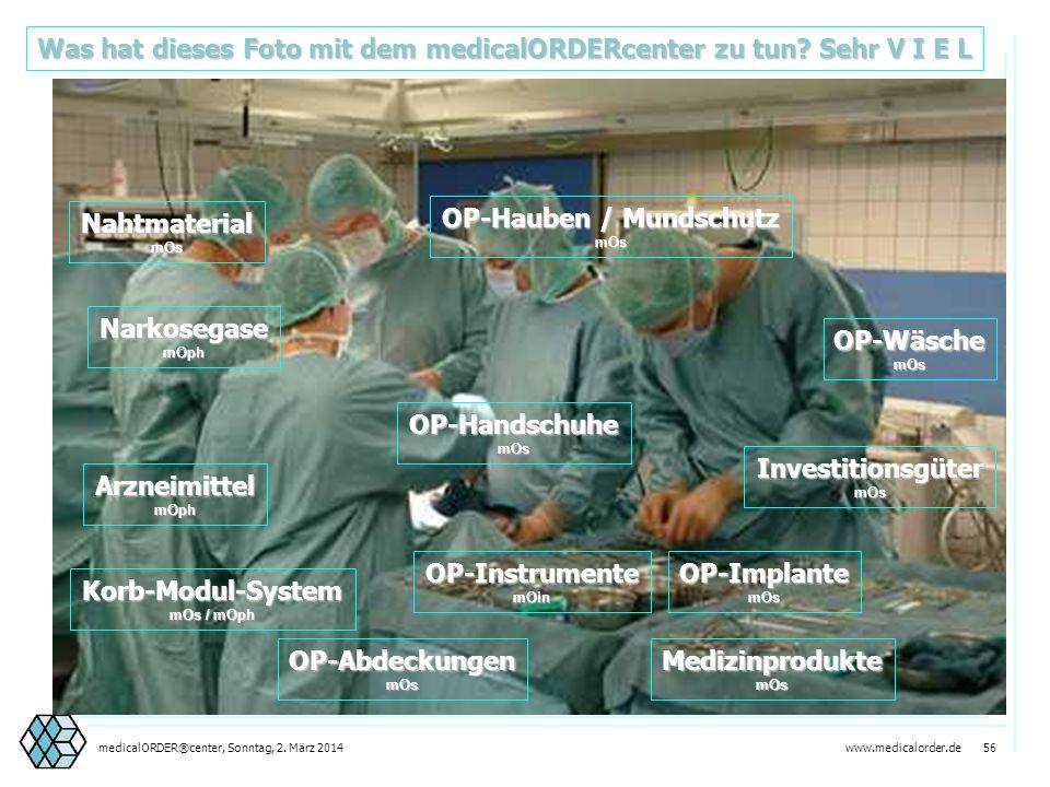 Was hat dieses Foto mit dem medicalORDERcenter zu tun Sehr V I E L