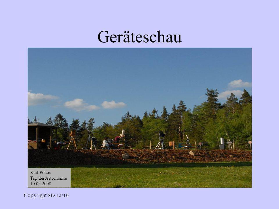 Geräteschau Copyright SD 12/10 Karl Polzer Tag der Astronomie