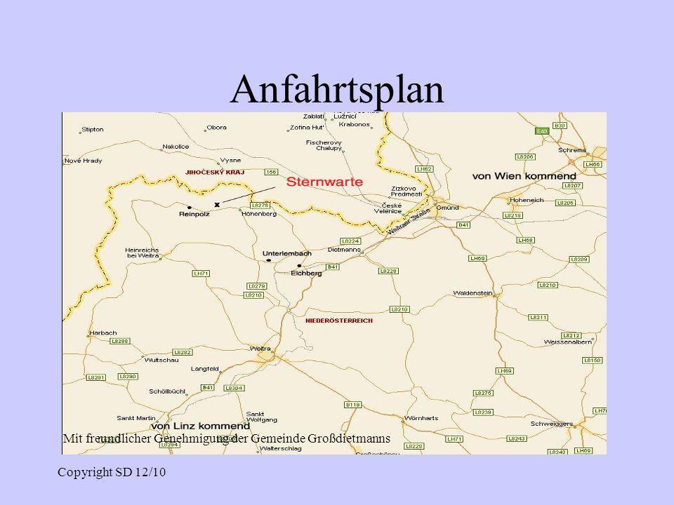 Anfahrtsplan Mit freundlicher Genehmigung der Gemeinde Großdietmanns