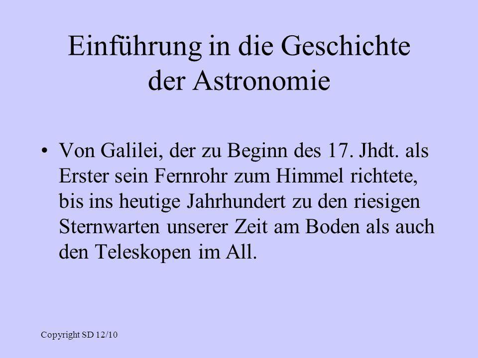 Einführung in die Geschichte der Astronomie