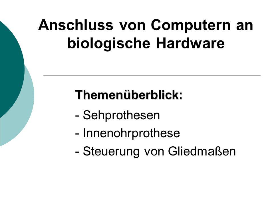 Anschluss von Computern an biologische Hardware
