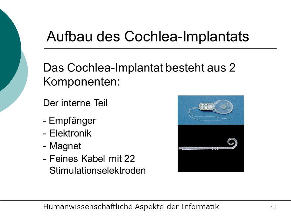 Aufbau des Cochlea-Implantats