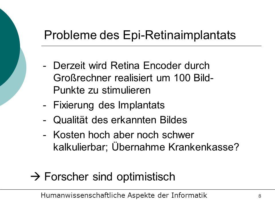 Probleme des Epi-Retinaimplantats