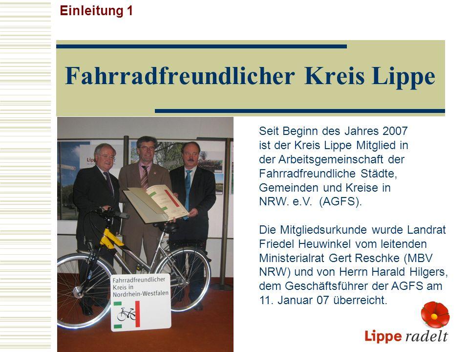 Fahrradfreundlicher Kreis Lippe