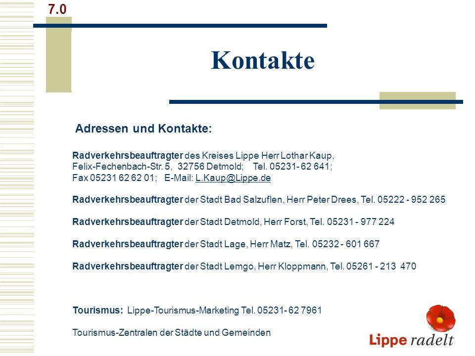 Kontakte 7.0 Adressen und Kontakte: