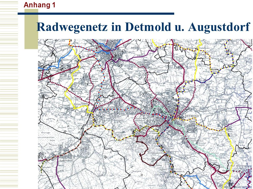 Radwegenetz in Detmold u. Augustdorf