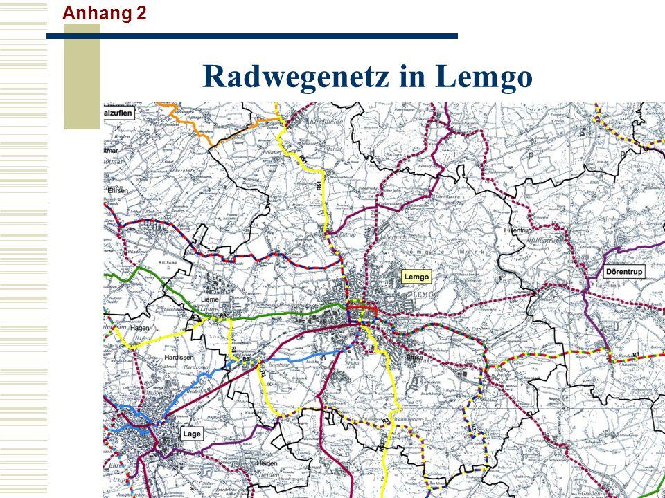 Anhang 2 Radwegenetz in Lemgo