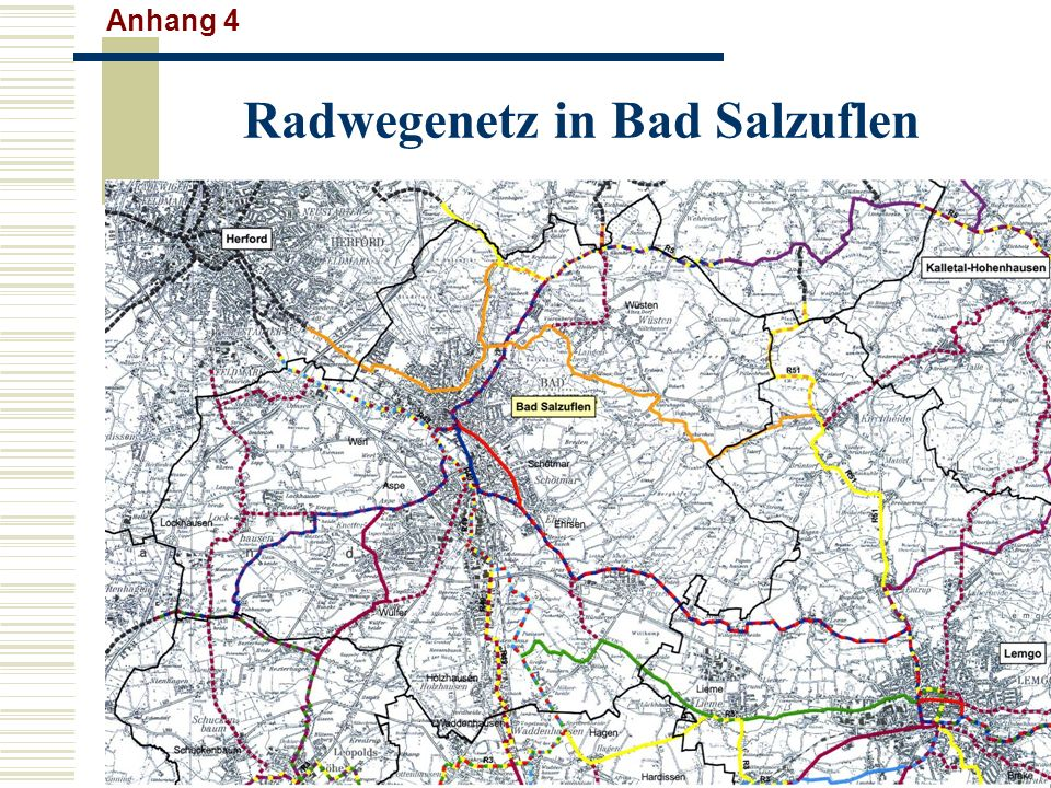 Radwegenetz in Bad Salzuflen