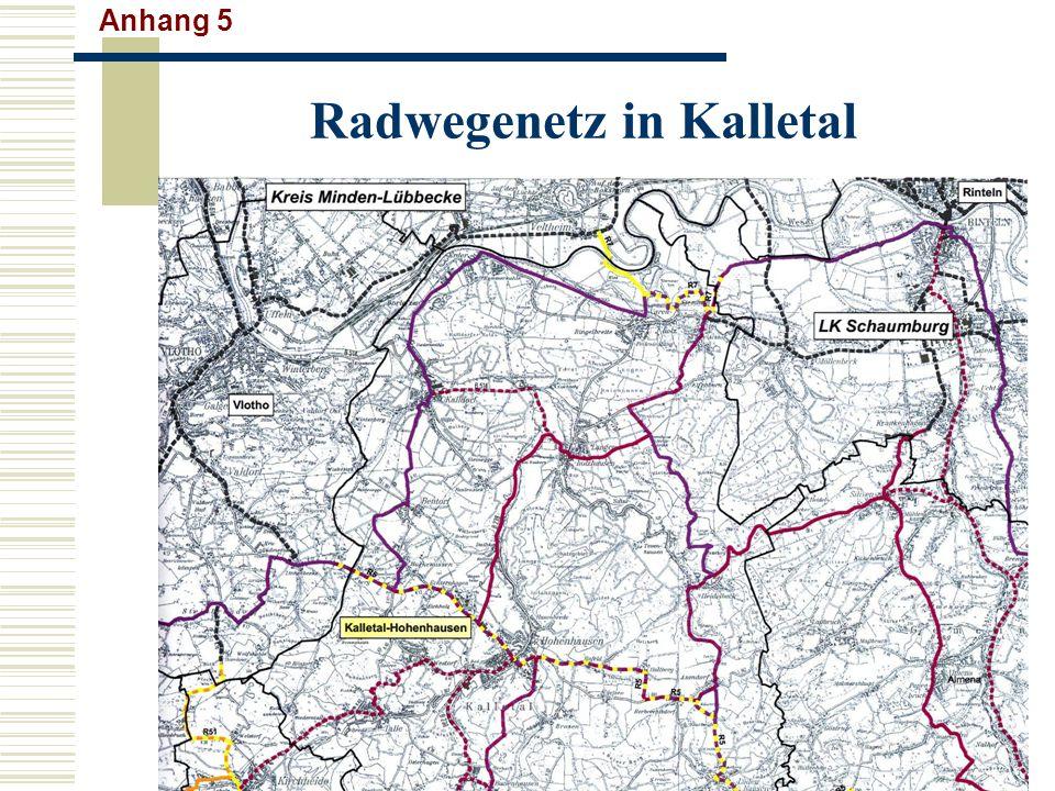 Radwegenetz in Kalletal