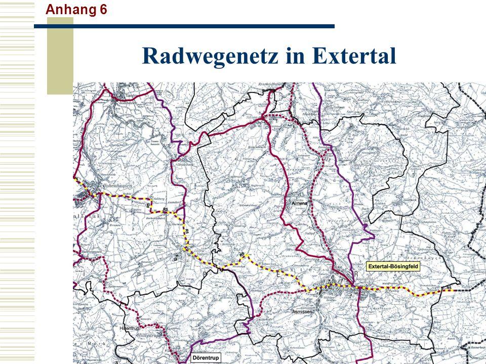 Radwegenetz in Extertal