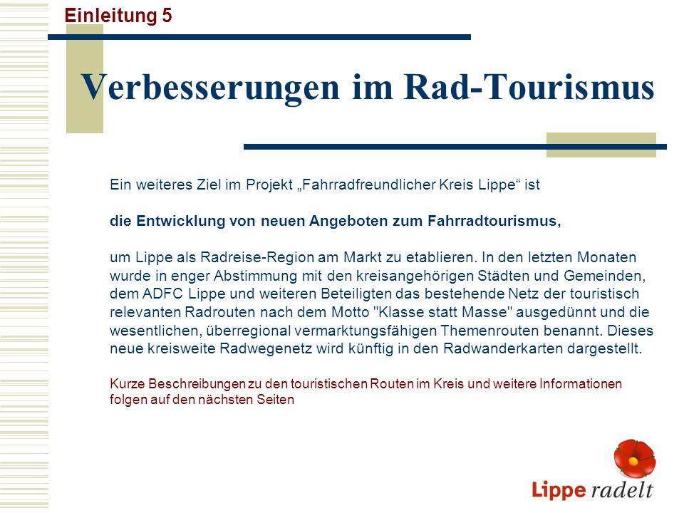 Verbesserungen im Rad-Tourismus