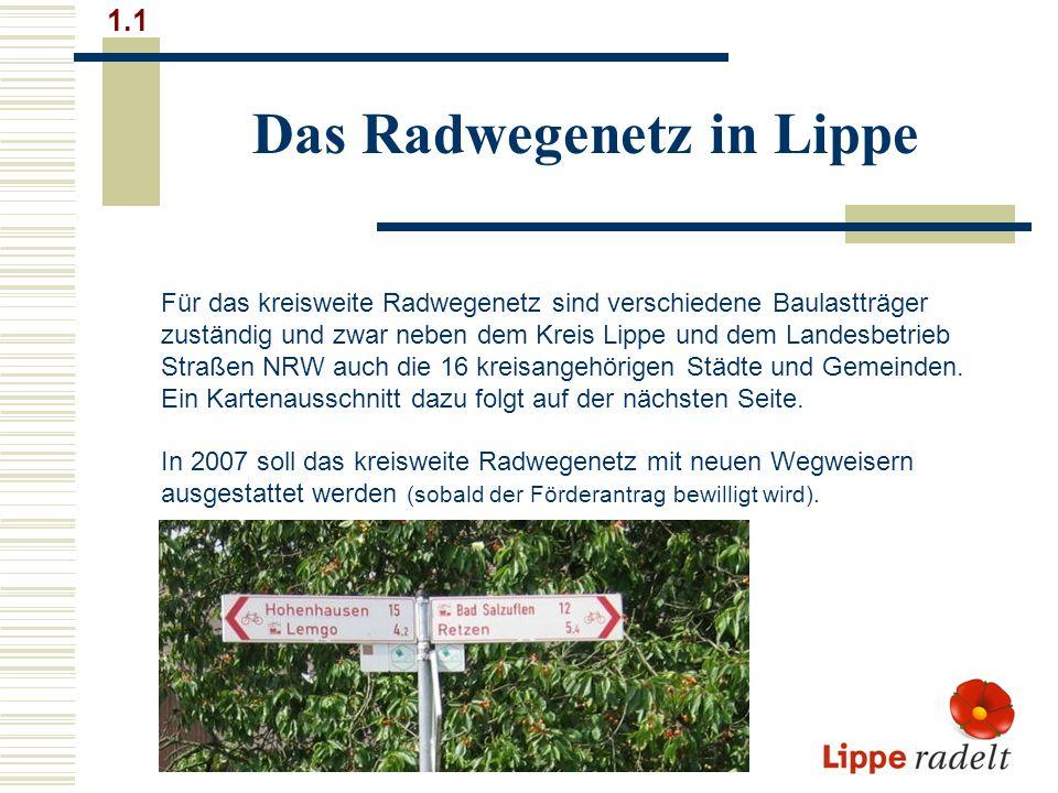 Das Radwegenetz in Lippe