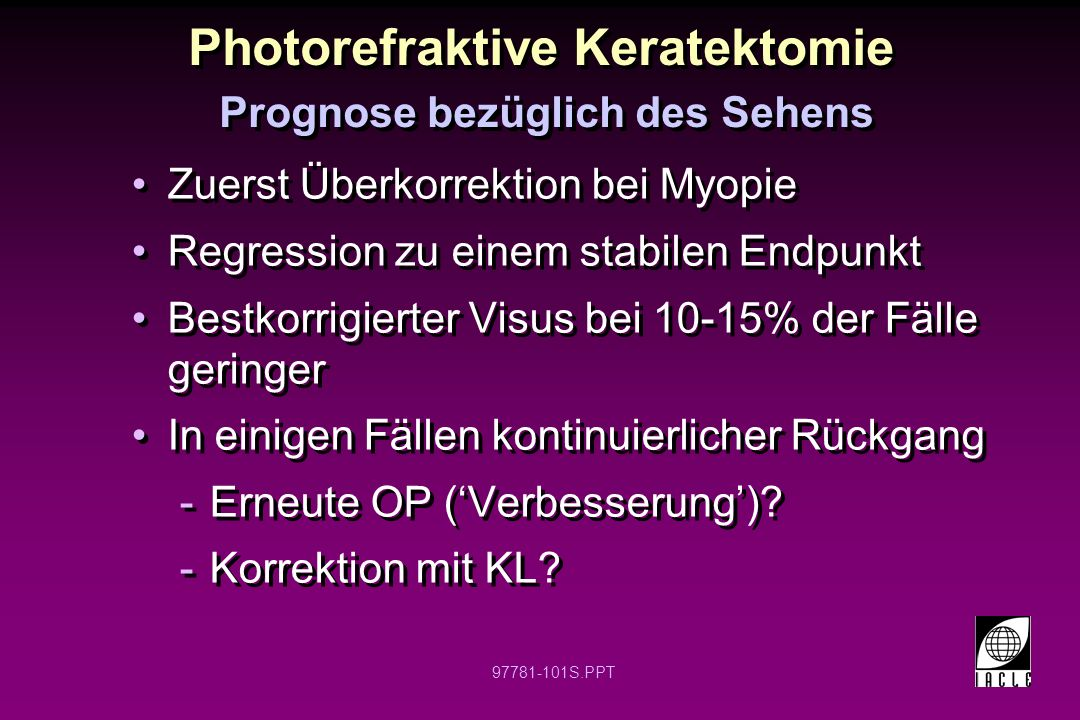 Photorefraktive Keratektomie