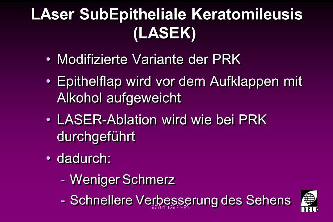 LAser SubEpitheliale Keratomileusis (LASEK)