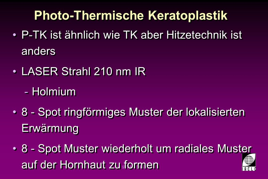 Photo-Thermische Keratoplastik