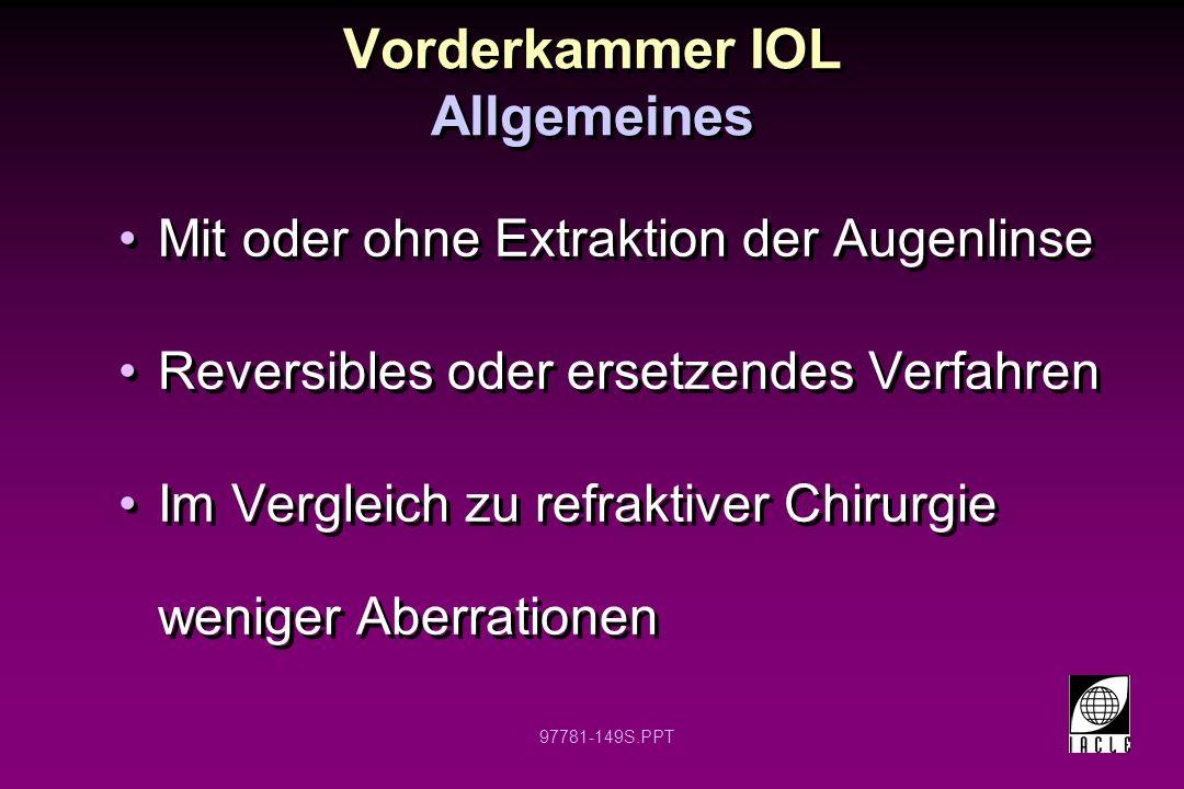 Vorderkammer IOL Allgemeines