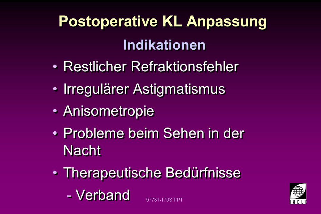 Postoperative KL Anpassung