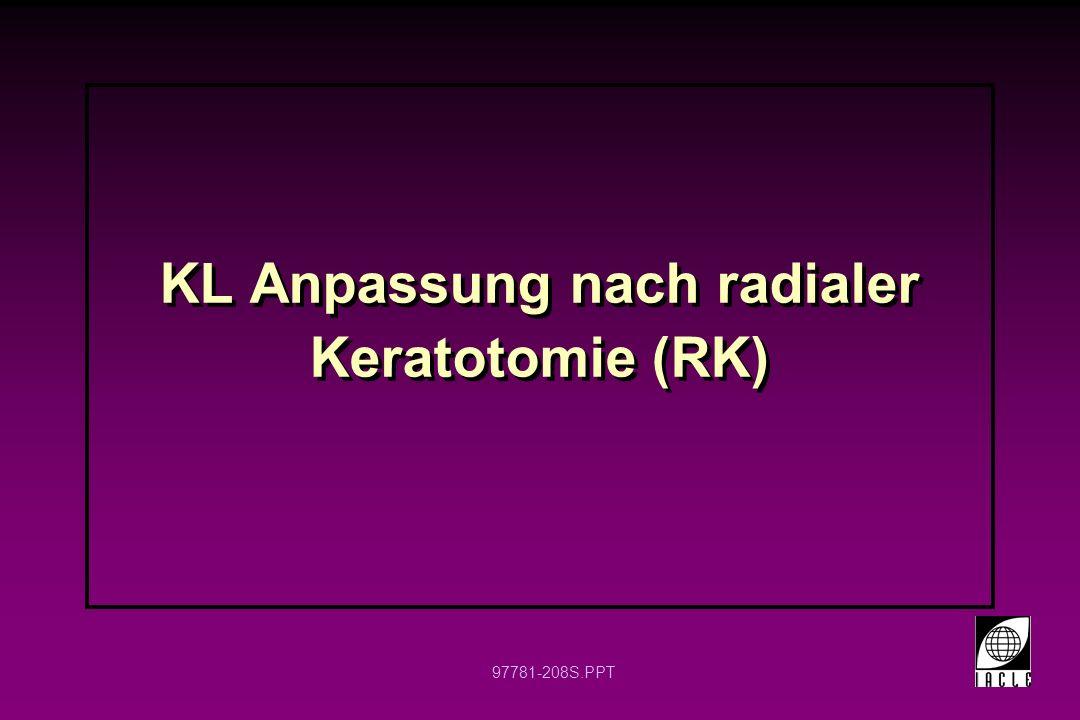 KL Anpassung nach radialer Keratotomie (RK)