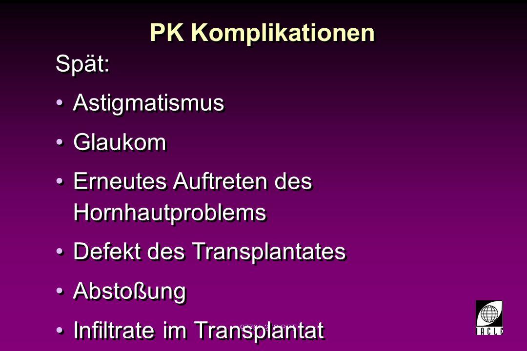 PK Komplikationen Spät: Astigmatismus Glaukom