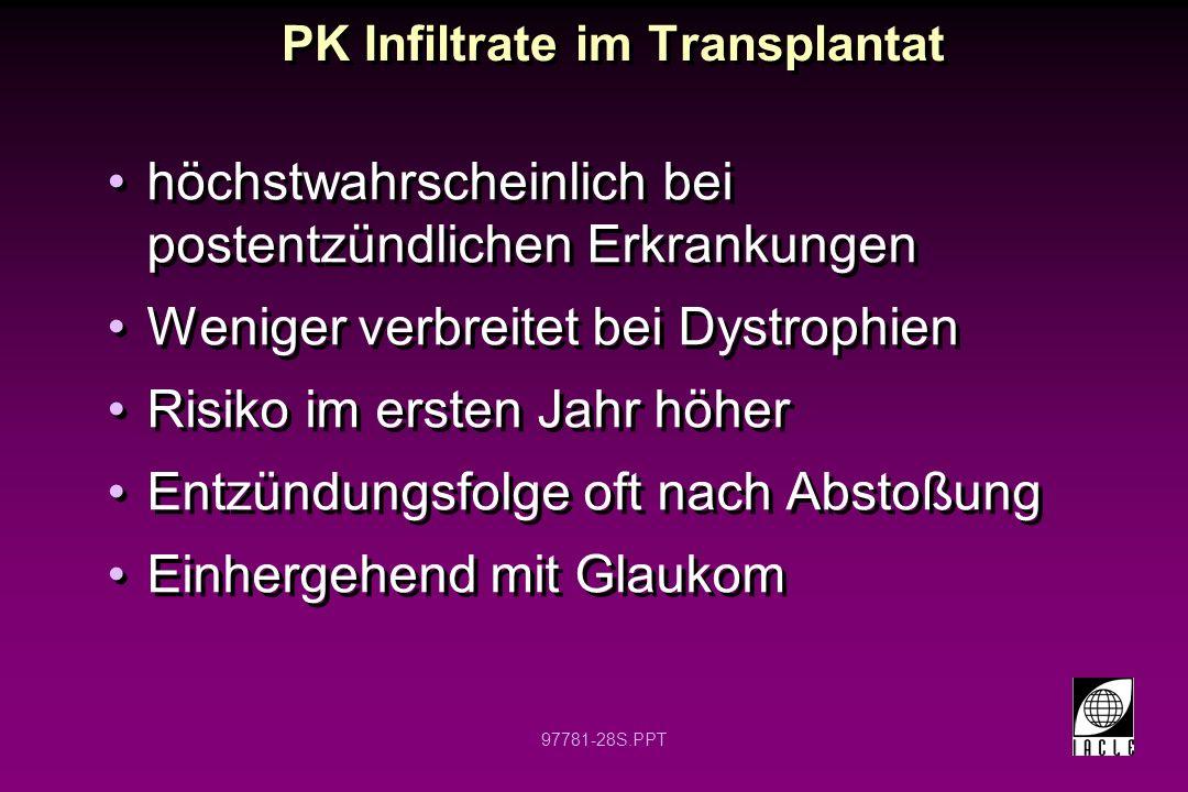 PK Infiltrate im Transplantat