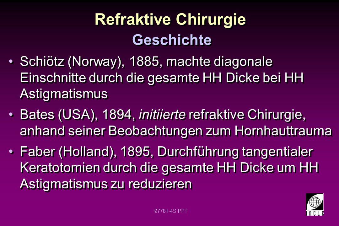 Refraktive Chirurgie Geschichte
