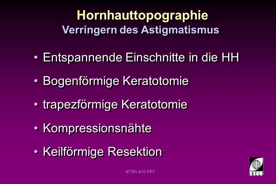 Verringern des Astigmatismus