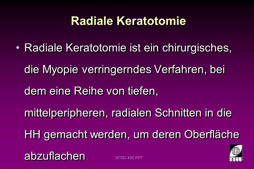 Radiale Keratotomie
