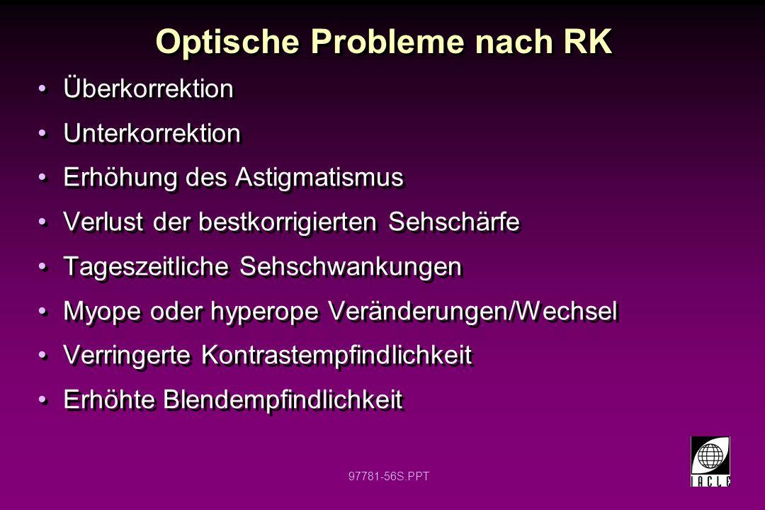 Optische Probleme nach RK