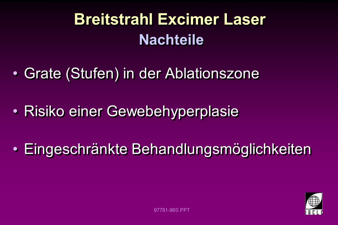 Breitstrahl Excimer Laser