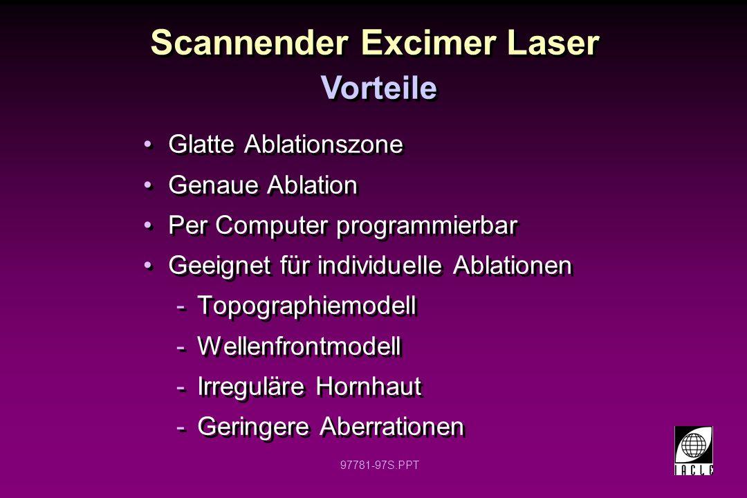 Scannender Excimer Laser