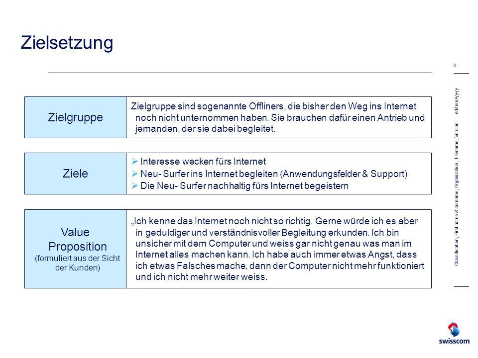 Value Proposition (formuliert aus der Sicht der Kunden)